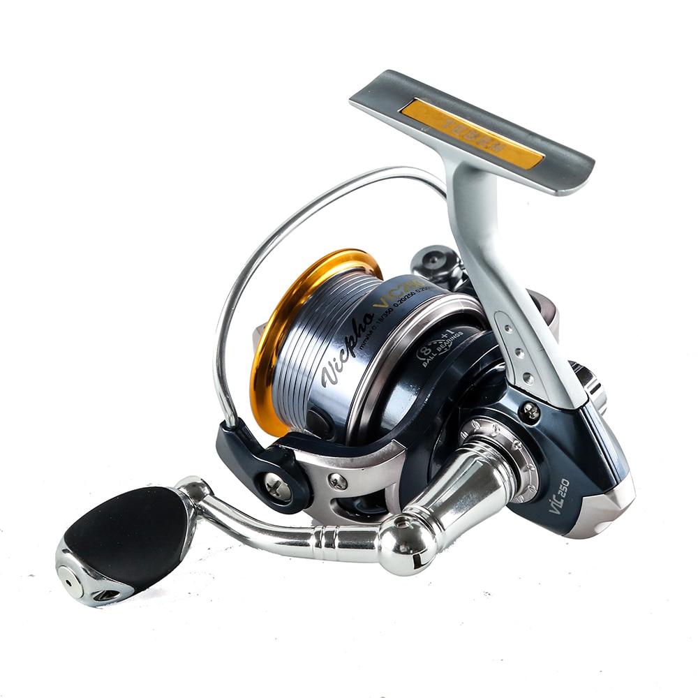 Surf Casting Fishing Reel Spinning Fishing Reel 8+1BB Gear Ratio 5.1:1 Aluminium Handle Carp Steering Wheel Spinning Reel