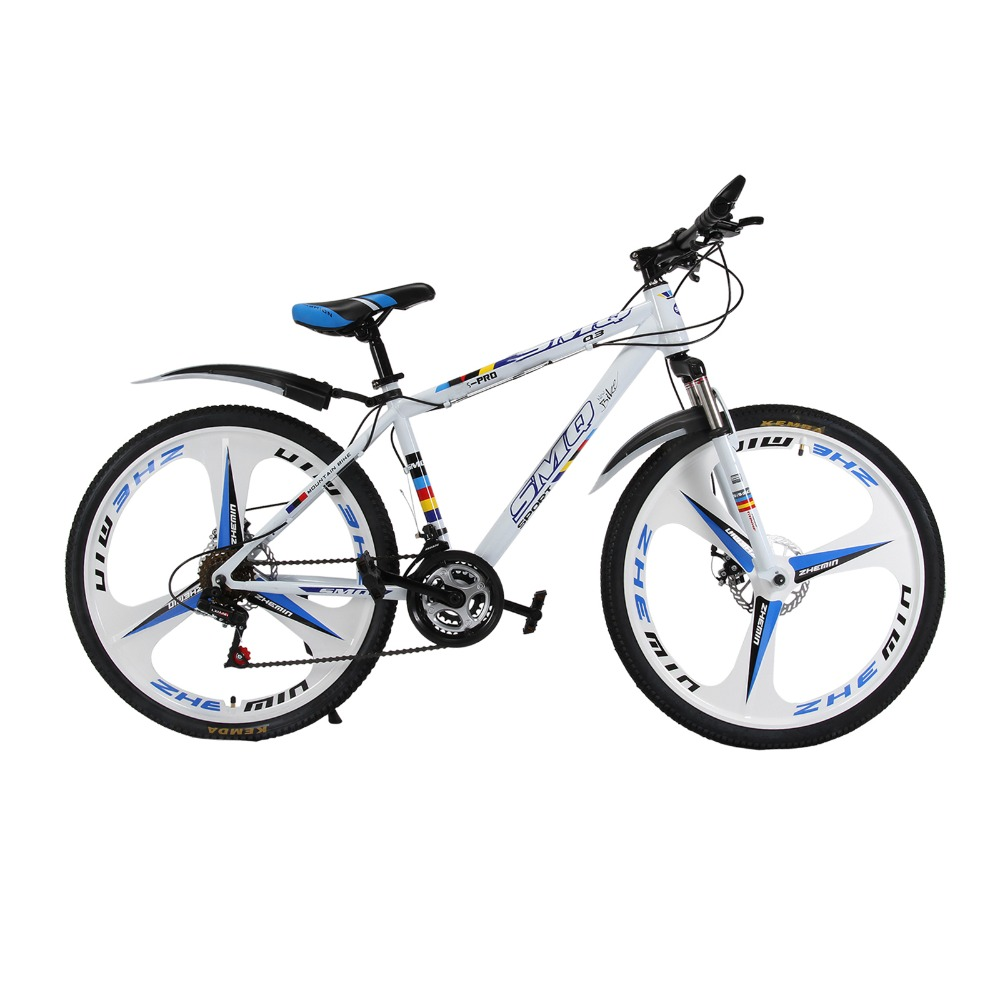 New arrival mountain white bike26'' 21 speed 3 knife integrated bike variable speed cycling double vibration damping brakes цена 2017