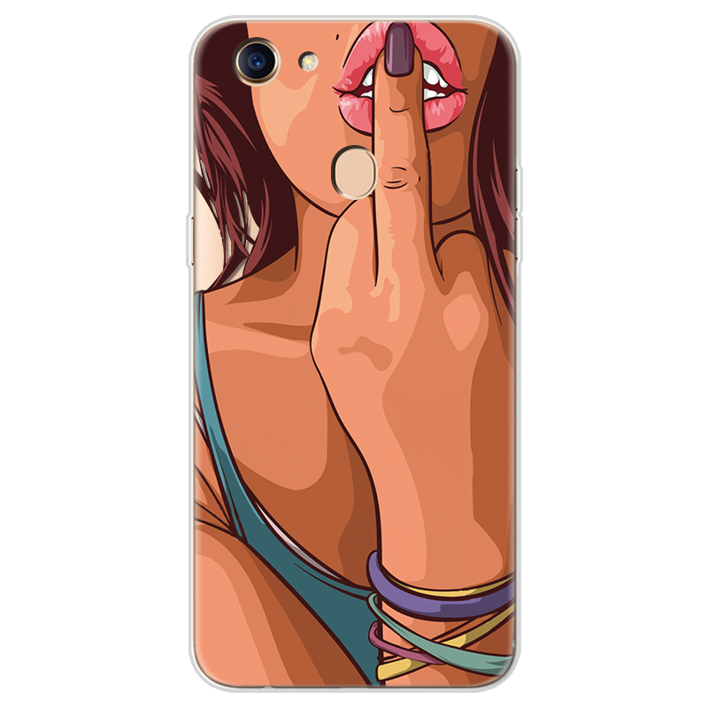 Sexy Ultra Thin Soft TPU Coque Phone Case for OPPO F5 Case Silicone accessories Rubber Transparent Back Bags Print Cover Funda 4