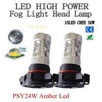 2Pcs Lot Psy24w 50w Cree Chips Led High Power Car Turn Signal Lights Tail Lights Bulbs
