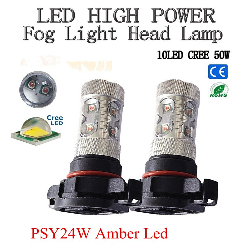 Psy24w 50w Cree chips Led High Power Car Turn Signal Lights,Tail Lights Bulbs Psx24w Py24w For Bulb Amber