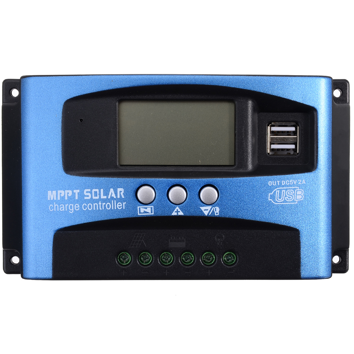 Hohe Effizienz 12 V/24 V 30A Dual USB LCD Display Solar Laderegler Automatische Fokus Tracking MPPT Solar panel Regler