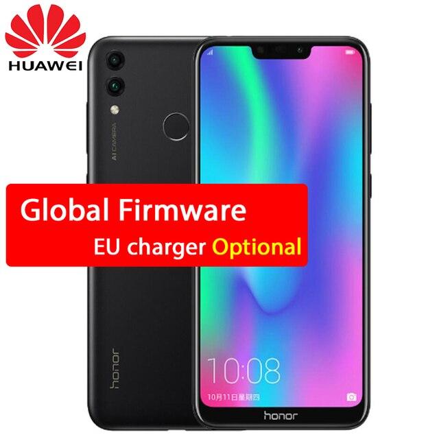 מקורי Huawe כבוד 8C 3 חריצי פנים מזהה 6.26 אינץ Snapdragon 632 אוקטה Core מול 8.0MP כפולה אחורי מצלמה 4000 mAh