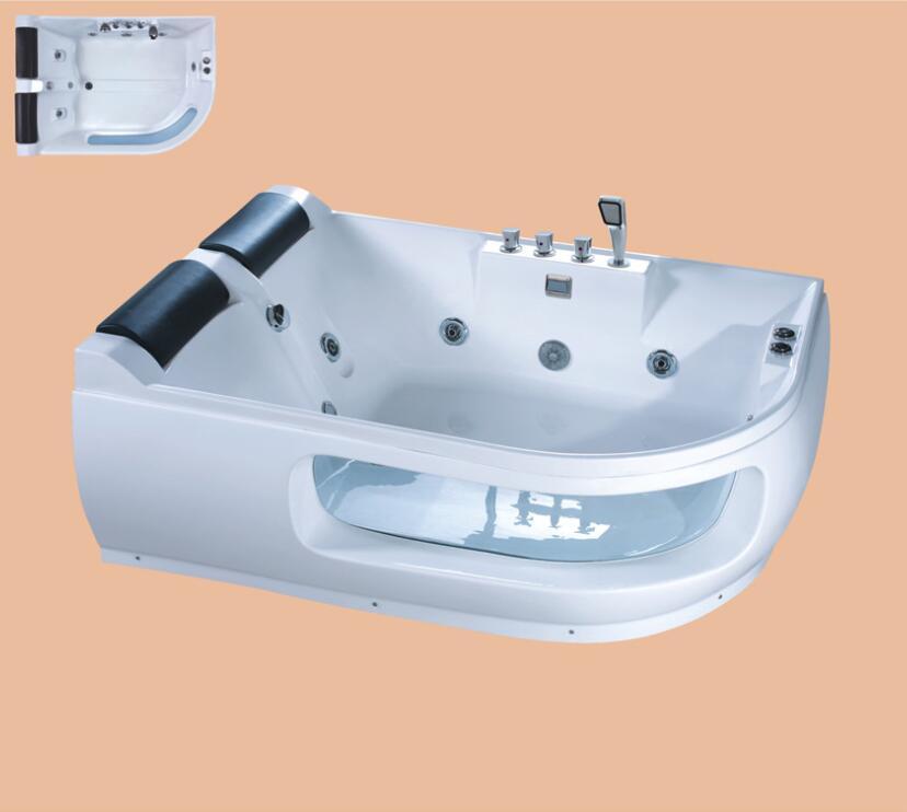 цены 1700mm Fiberglass whirlpool Bathtub Acrylic Hydromassage Surfing Tub NS3036