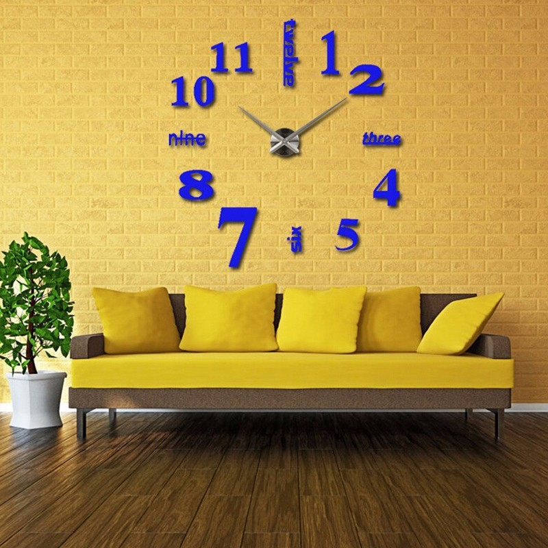 16 new arrival Quartz clocks fashion watches 3d real big wall clock rushed mirror sticker diy living room decor free shipping 6