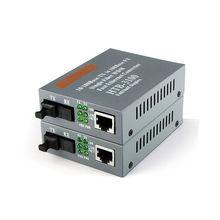 Fiber Optical Media Converter 10/100Mbps RJ45 Single mode 25KM HTB-3100A/B 1Pair