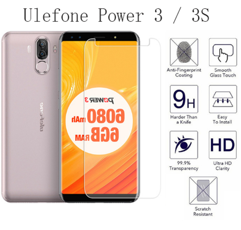 2pcs NEW Screen Protector Phone For Ulefone Power 3 / 3S  Phone Tempered Glass SmartPhone Film Protective Screen Cover
