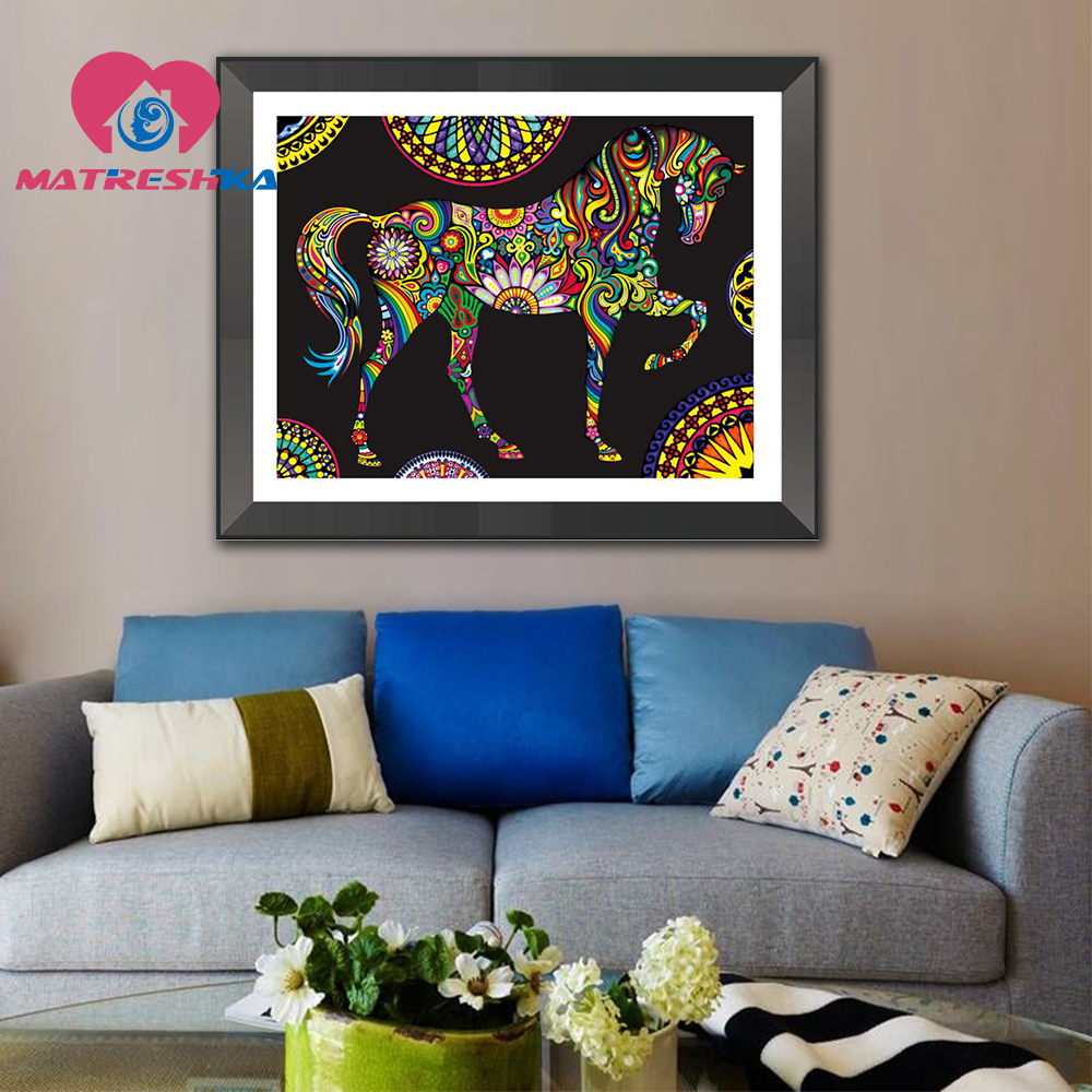 Buy special shaped diamond painting horse - Home interior horse pictures for sale ...