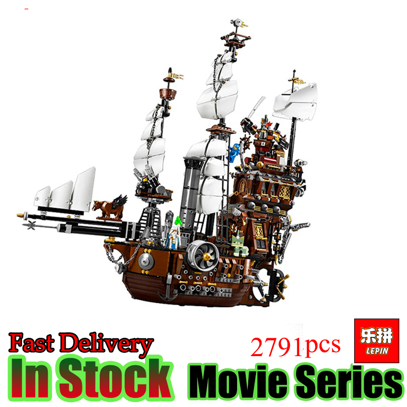 LEPIN 16002 Pirate Ship 2791pcs Metal Beard's Sea Cow Model Building Kits figures Blocks Bricks Compatible free shipping lepin 16002 pirate ship metal beard s sea cow model building kits blocks bricks toys compatible with 70810