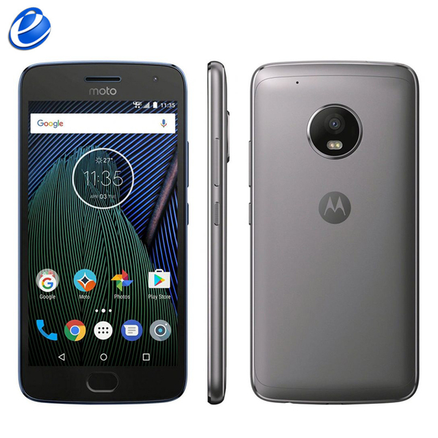 "Unlocked Original Motorola MOTO G5 Plus XT1687 single sim Octa Core Android 4G LTE Cell Phone 5.2"" 12MP 32GB ROM smart phone"