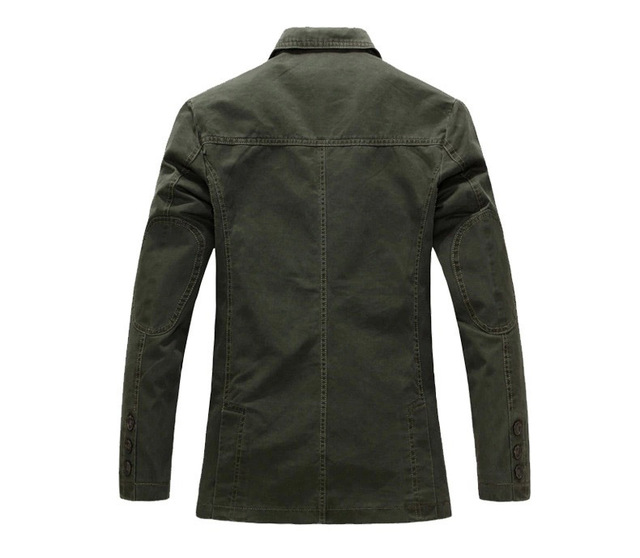 2018 spring  Men 100% cotton casual blazer men's brand military jacket blazers mens suit coat male blazer masculino jackets 4