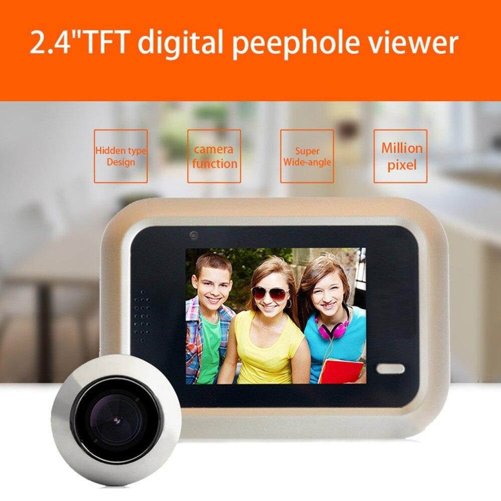Discreet X8 2.4 Inch Tft Color Screen Display Home Smart Doorbell Security Door Peephole Electronic Cat Eye Night Vision Video Strengthening Sinews And Bones Hardware Door Viewers