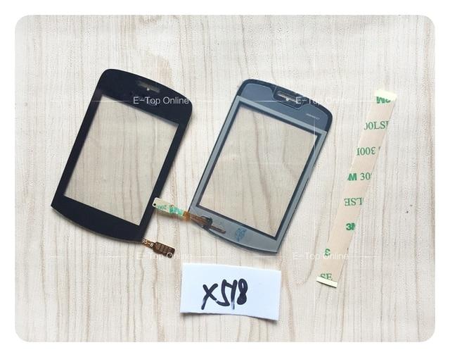 """2.8 """"preto toque digitador da tela para philips xenium x518 tela painel de digitador de vidro sensor + 3 m adesivo + rastreamento"""