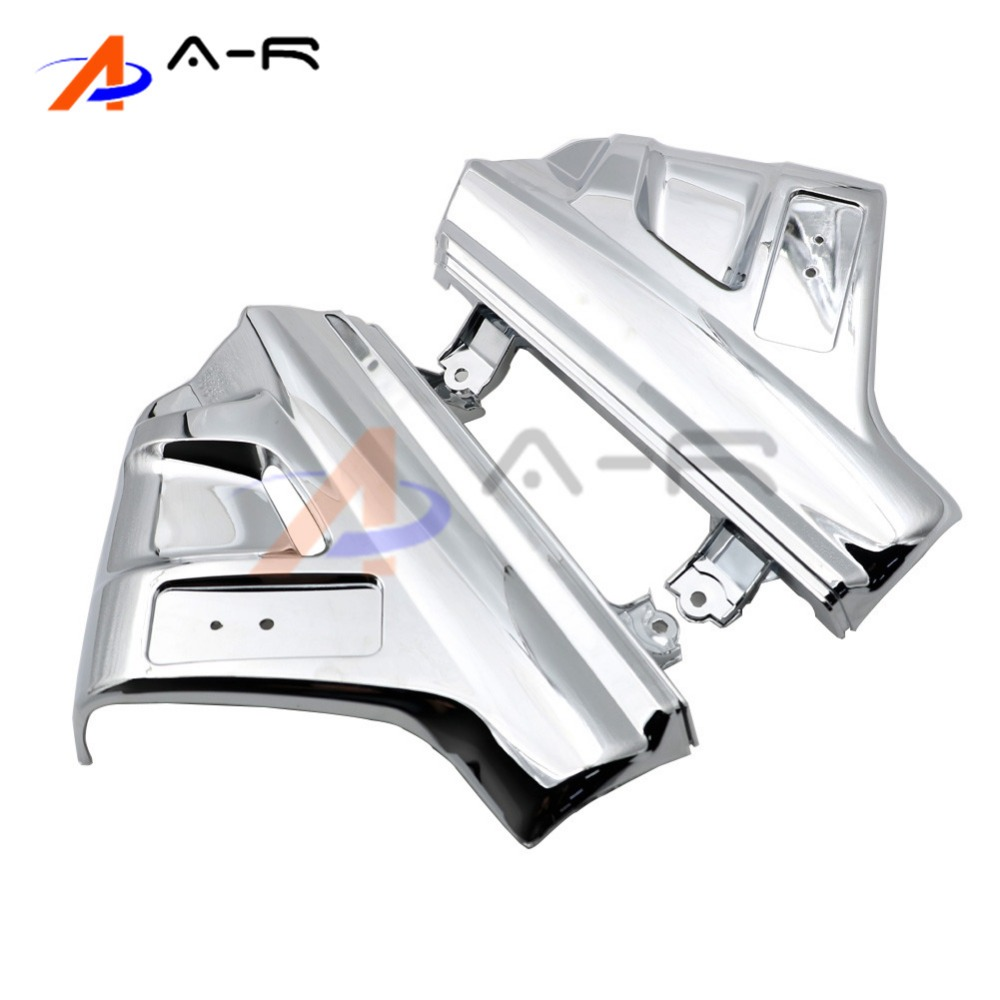 ABS Chrome Front Shock Cover Side Fender Lower Fork Shield Frame Shell Case for Honda GL Goldwing 1800 GL1800 2001 - 2011 иринотекан 20мг мл концентрат для раствора для инфузий 2мл 1 флакон