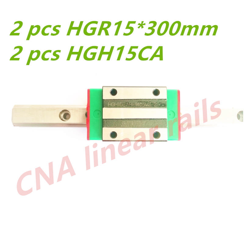 HIWIN 15mm HGR15 300mm Original Taiwan HIWIN Linear Rail Guides with HGH15CA carriages