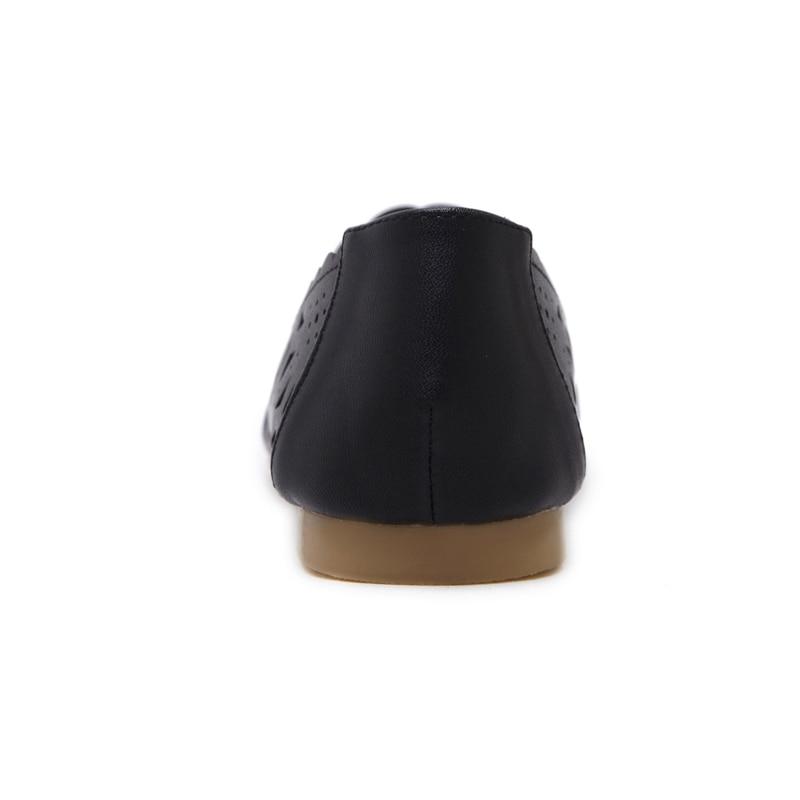CEYANEAONew damen sandalen schuh Frau Echtem Leder Flache Schuhe Mode Hand-genäht Leder Faulenzer Weiblichen loch schuhe Frauen E977