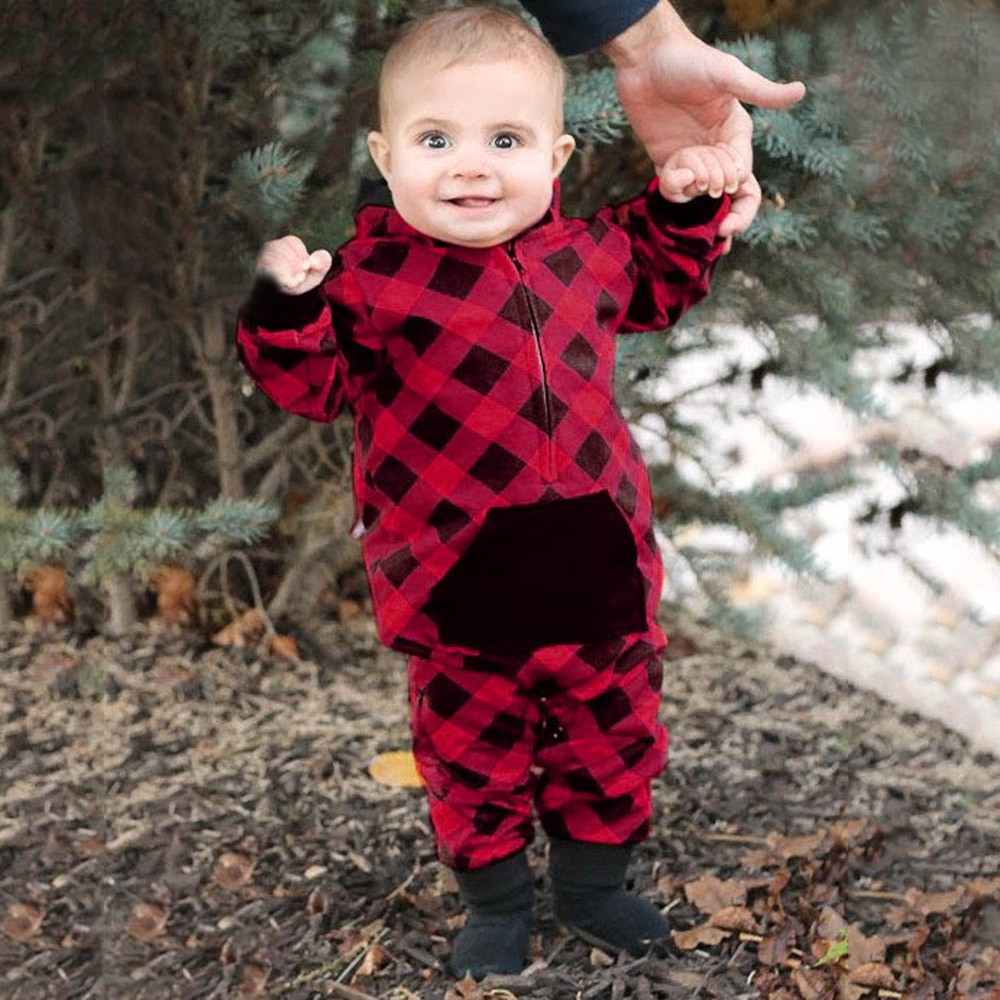 b9e71690b95ce Detail Feedback Questions about MUQGEW Newborn Toddler Baby Girls Boys  Plaid Print Pocket Hooded Romper Jumpsuit Casual Clothes vetement bebe  garcon  TX4 on ...