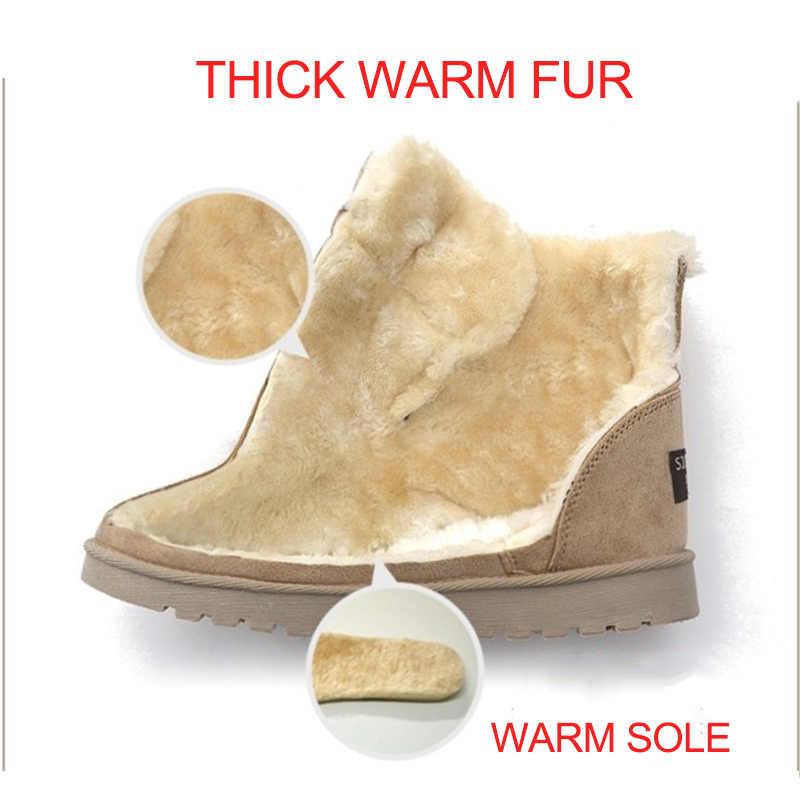 Kadın Botları 2019 Yeni yarım çizmeler Kadın Kış Ayakkabı Kadın Kar Botları Sıcak Kürk Kadın Ayakkabı Kış Patik Artı Boyutu Ayakkabı