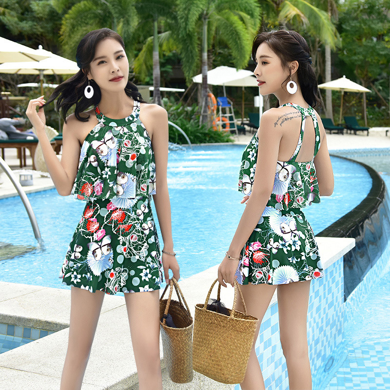 Swim Wear For Swimsuit Women Bathing Robe Swiming Suit Woman Swimwear Sexy 2018 Covering Swimming Underwire Printing Skirt Suits