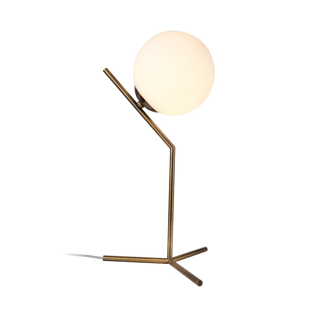 Lights & Lighting Nordic Modern Glass Ball Table Lamps Gold White Black Metal Body Abajur Bedroom Bedside Desk Lamp Living Room Lampara De Mesa