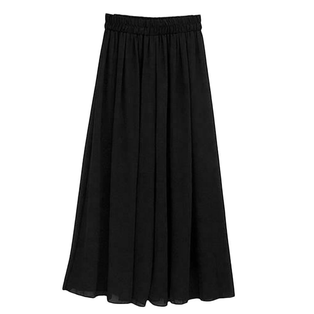 Hohe Taille Chiffon lose Hosen Sommer einfarbig Casual Hosen Weibliche Breite Bein Lange Pumphose Hose pantalones mujer