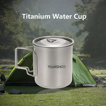 Lixada 420ML Titanium Cup Mug Pots Tableware Outdoor Camping Cup Cooking Pots Picnic Water Cup Mug of Coffee Tea with Lid