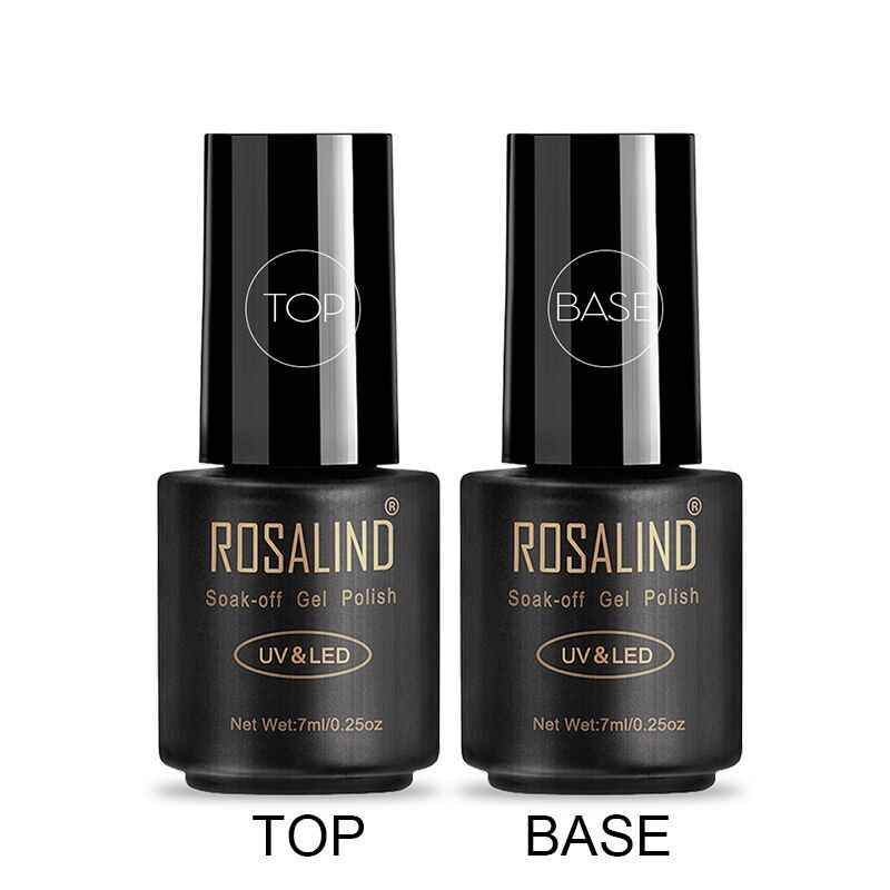 Rosalind Gel Polish Top Coat Base Coat Shiny Langdurige Versterken 7Ml Hybrid Vernissen Manicure Uv Gel Lak Nail art Primer
