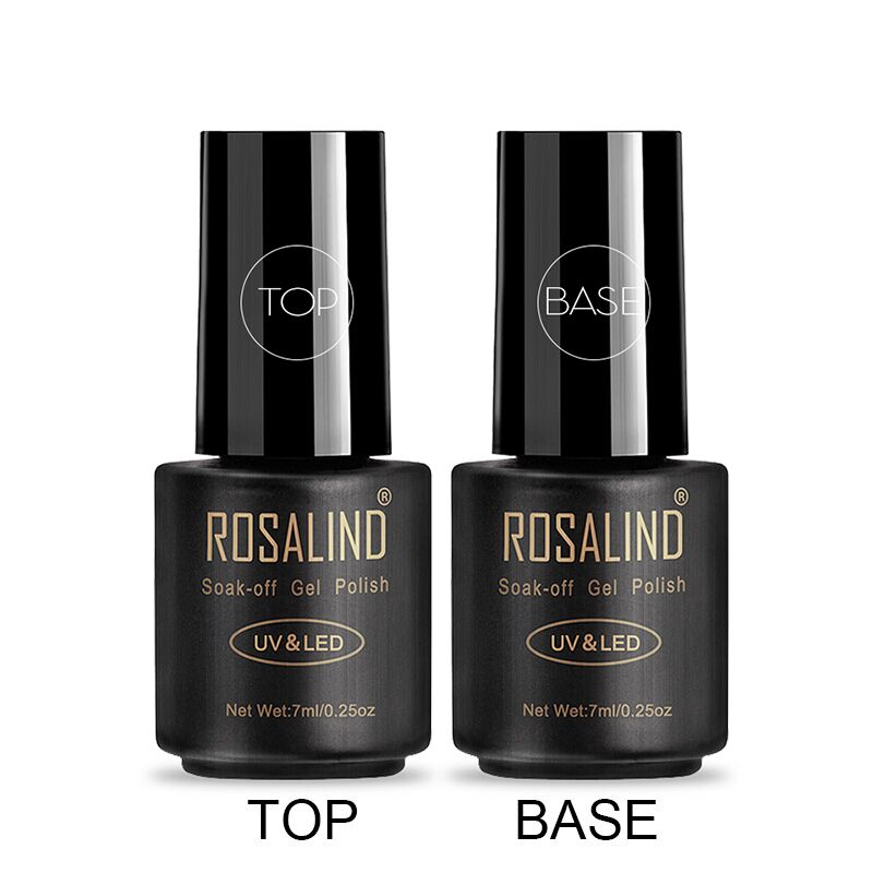 ROSALIND Gel Polish Top Coat Base Coat Shiny Long Lasting Reinforce 7ml Hybrid Varnishes Manicure UV Gel Lacquer Nail Art Primer