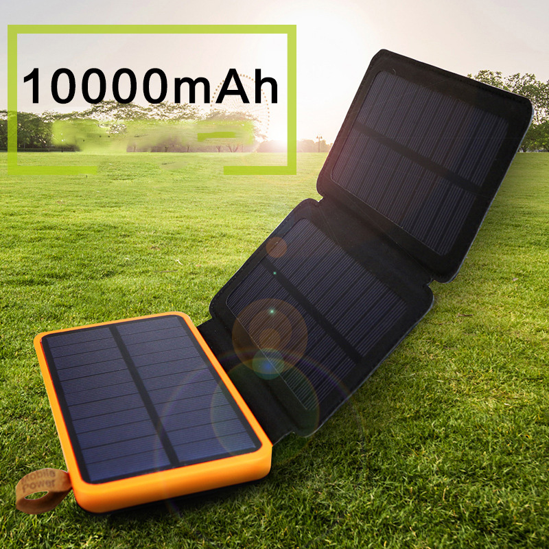 Solar LED outdoor waterproof folding solar mobile power high-power emergency solar charger solar power машины engino