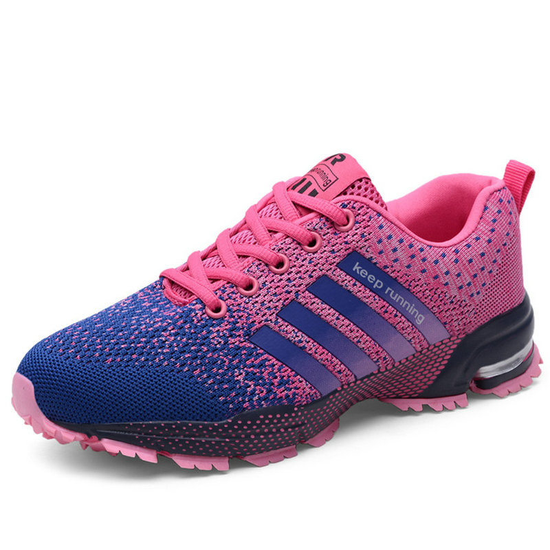 Sweet-Tempered Hot Sale Running Shoes For Mesh New Female Sport Shoes Woman Sneakers Breathable Lace-up Chaussure Femme Neutral Big Size Shoes