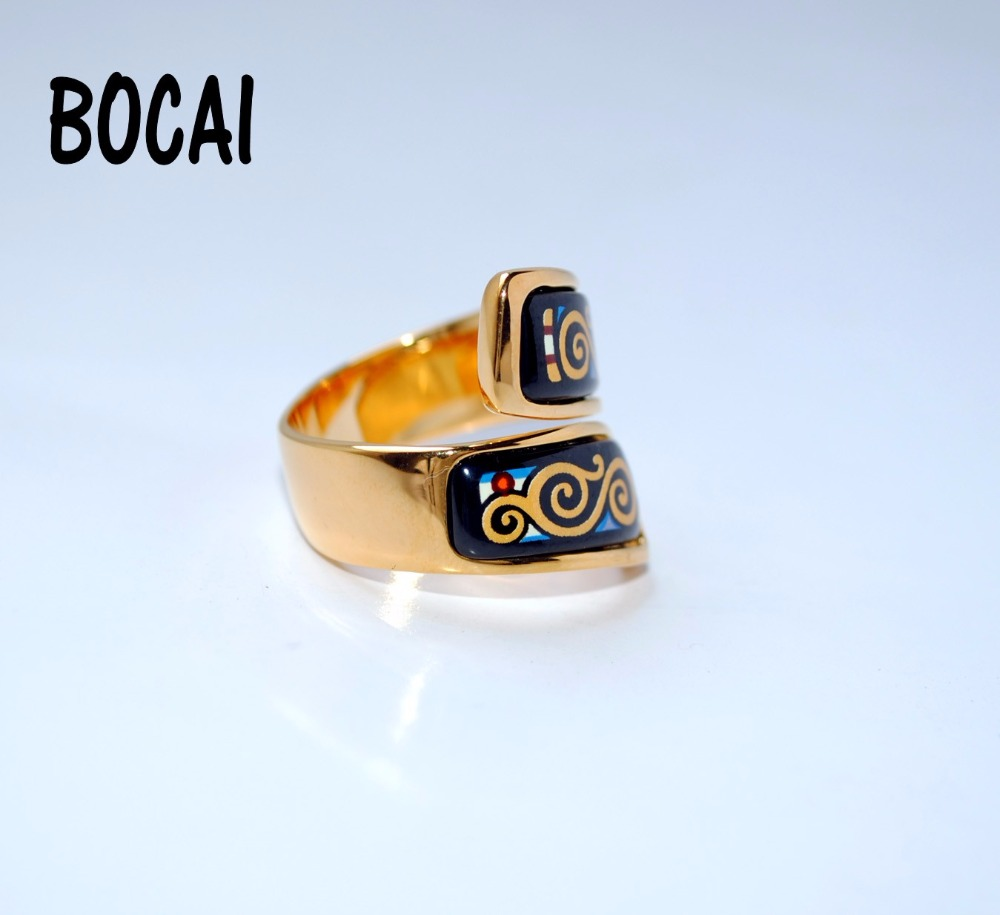 Cloisonne enamel color fashion jewelry ring A-level French style cloisonne jewelry enamel round ring european and american style