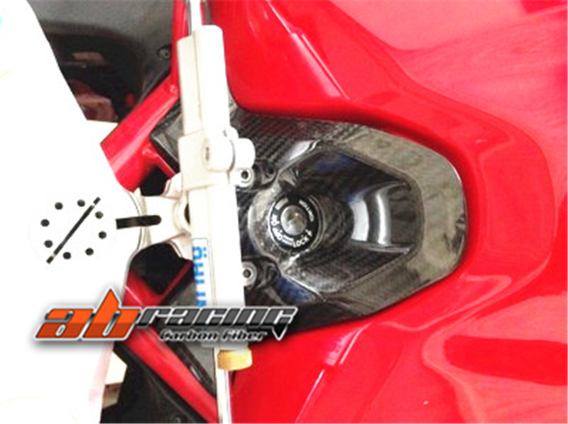 Key  Ignition Guard Cover  For Ducati 848 1098 1198  Full Carbon Fiber 100%  Twill title=