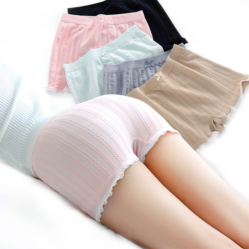 Simple Fashion Summer Women Sexy Safety Shorts Lace Anti Exposure Solid Color Ladies Girls Casual Boxer Shorts H9
