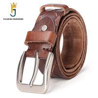FAJARINA New Design Unisex Retro Style Cow Skin Belt 3 8cm Wide Top Quality Straped 100
