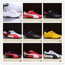 2018 PUMA Ferrarimotorcycle Racing Shoes Men And Women Shoes Autumn Winter Sneakers Leather Skin Badminton Shoes Size 37-45(China)
