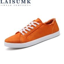 LAISUMK Men Vulcanize Shoes Man Flats Breathable Mens Fashion Classic Outdoor Canvas For Zapatos De Hombre