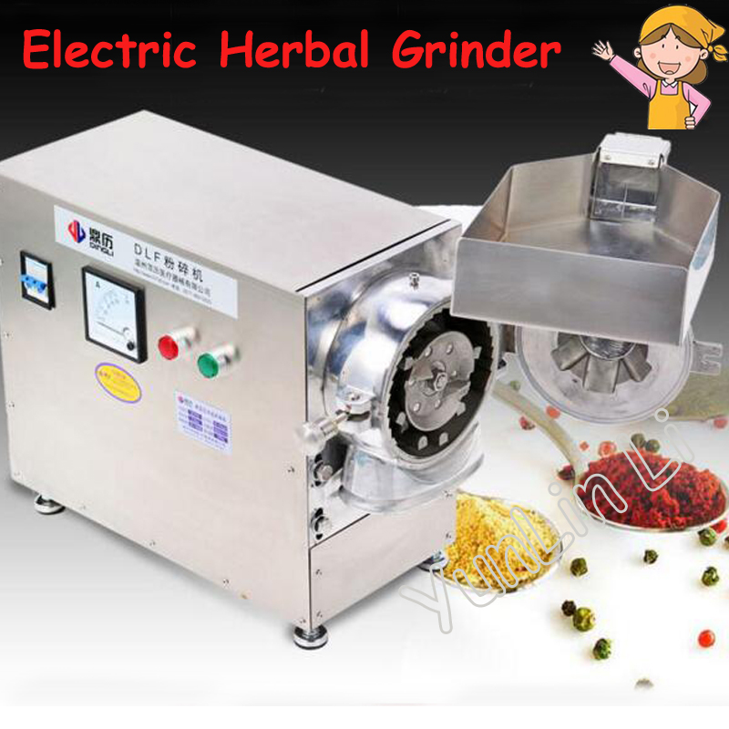 Electric Herbal Grinder Continuous Grain Mill Machine Grain Grinding Machine Pulverizer Mill Machine Herbal Crusher DLF50 herbal muscle
