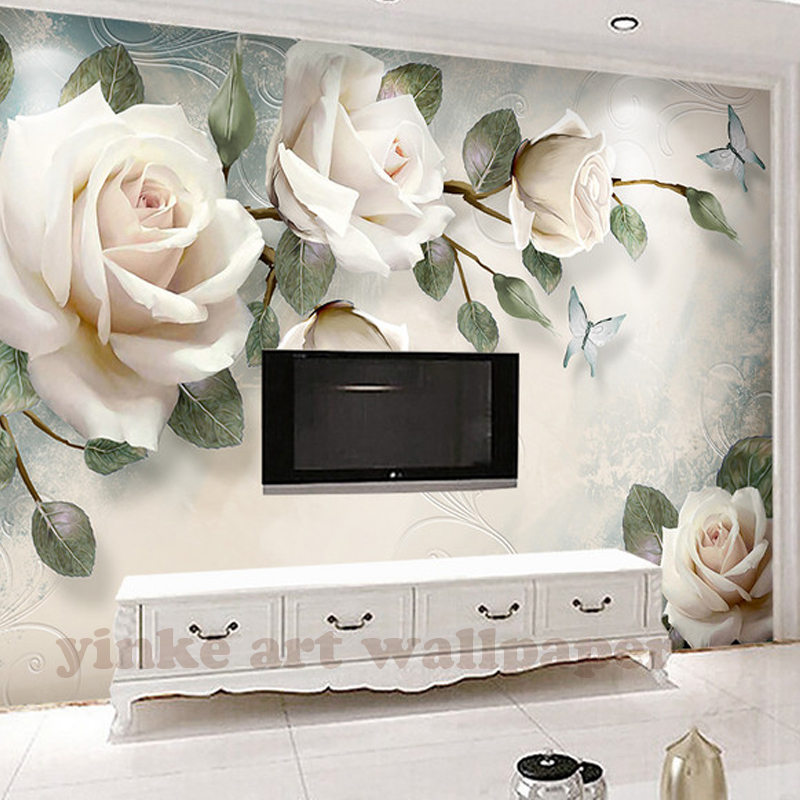 Tv Sofa Polaris Contemporary Black Leather Sectional Custom Photo Wallpaper Painting 3d White Rose Flowers Wall Murals Living Room Backdrop Paper Modern Home Decor In Wallpapers From