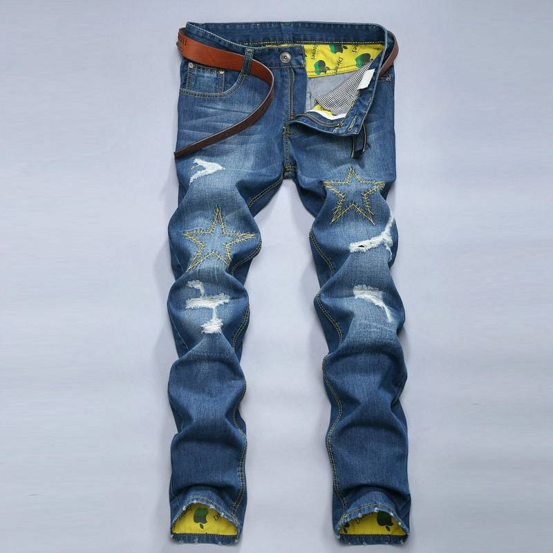 #1510 Slim fit jeans Fashion Designer Denim biker jeans Casual Ripped jeans for men Punk Mens jogger jeans Skinny distressed