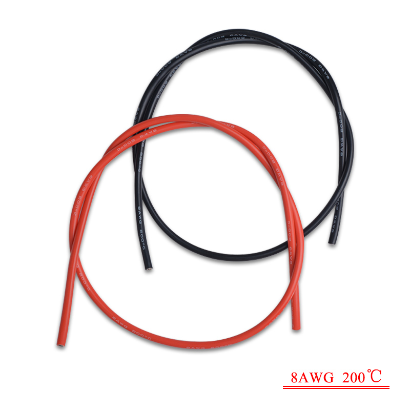 2x 3M 8 10 12 14 16 Gauge AWG Silicone Rubber Wire Cable Red Black ...