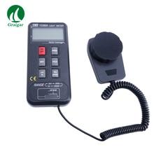 TES-1336A Digital Light Meter TES1336A Цифровой Люксметр регистрация данных Light метр Диапазон измерения 20/200/2000/20000 лк