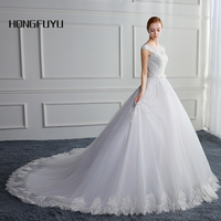 New Wedding Dress Bandage Tube White Bridal Gowns Cap Sleeve Long Wedding Dresses Scoop Neck A Line Vestido De Noiva