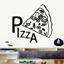 Pretty Pizza Vinyl Self Adhesive Wallpaper Living Room Children Room Wall Decoration Decorative Vinyl Wall Stickers 3d vinyl wall stickers planet living room