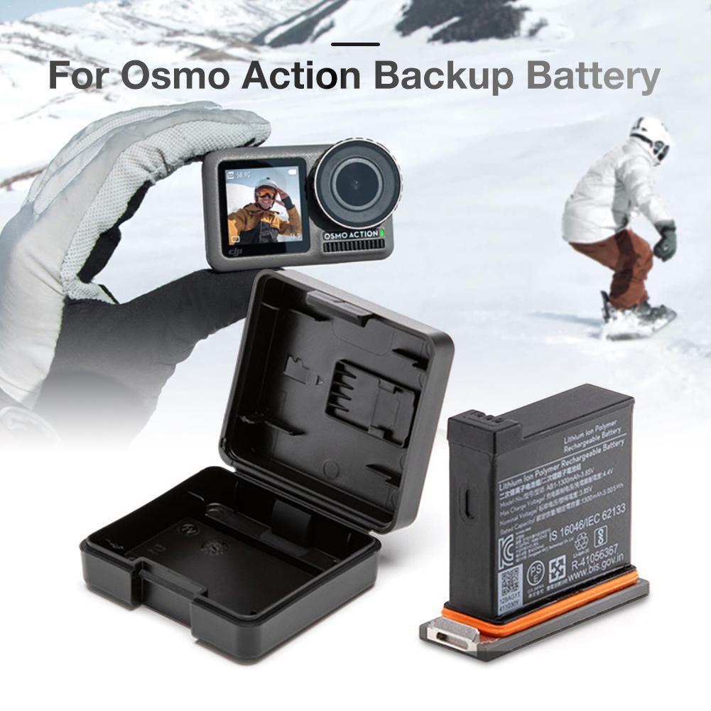 Batterie d'origine pour DJI OSMO ACTION batterie poche sport caméra accessoires Kit de chargement avec étui de batterie de moyeu de charge