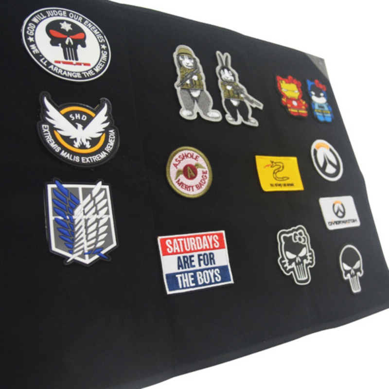 Black Patch Board DIY Morale Patch Display Frame Tactical Military Cloth Patch Holder Board Chapter Paste Pad 2 Sizes