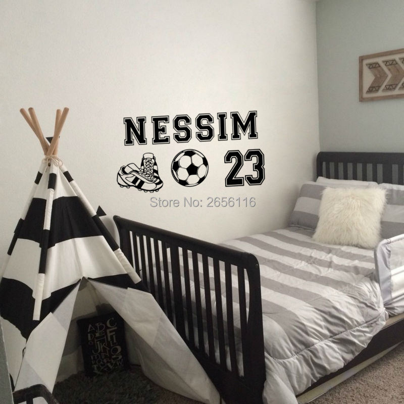 sports wall stickers sneakers wall decals soccer wall poster for boys roomchina mainland