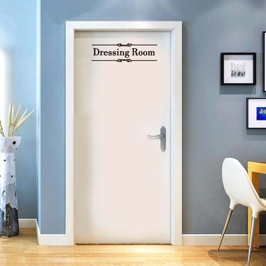 Dressing Room Wall Decal Modern Quotes Wall Stickers Various Kinds Closet Clothes Women Girls For Bedroom Home Decoration