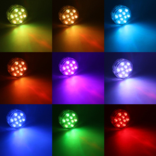 4pcs/lot 4W IP68 Waterproof Led Light Battery Operated RGB Color Aquarium 10 Leds 24 Key IR Remote Controller Fishbowl Lamp new dhl 50 pcs rechargeable lithium battery operated multicolors rgb led under table light with remote controller