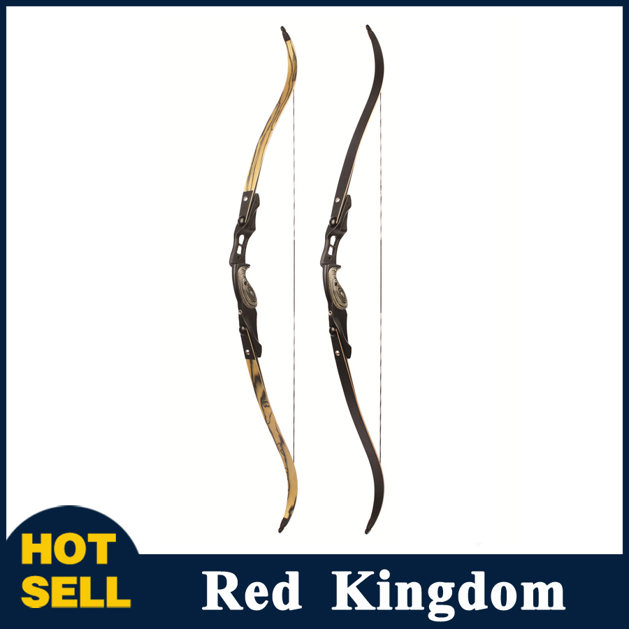 30-60 lbs American Recurve Bow 2 Color 60 Inches in IBO 190FPS with 17 inches Riser for Archery Bow Hunting Shooting 3 color 30 50lbs recurve bow 56 american hunting bow archery with 17 inches metal riser tranditional long bow hunting