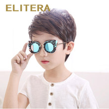 ELITERA New Brand Fashion Kids Polarized Sunglasses Wing Decoration Boys Girls Sun Glasses UV400 Outdoor Eyewear(China)